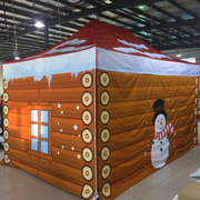 Santa Grotto Pop Up Gazebo 2m x 2m Printed (Top + Frame + Sides Double sided Print)